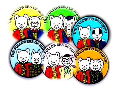 Set of 6 chums badges - Special Offer