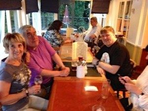 Friday evening in the Racehorse pub